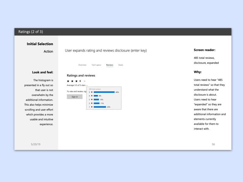 Ratings accessible UI design pattern style guide design style guide wcag 2.0 uidesign uxdesign interactiondesign information architecture ui design pattern ratings microsoft design system wia-aria 1.0 practice guide accessibility