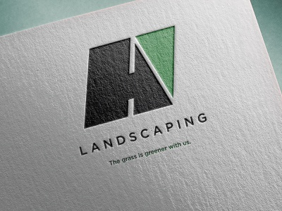 Landscaping Logo Mockup stationery design photoshop vector adobe illustrator typography branding logo mockup design
