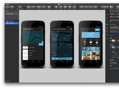 Samsung Concept proof of concept product design samsung android app wireframe medium fidelity