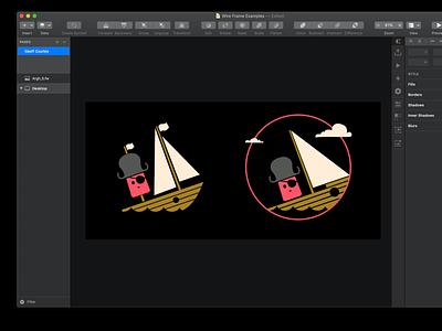 Pirate Popsicle Brand sketch vector illustration design identity brand