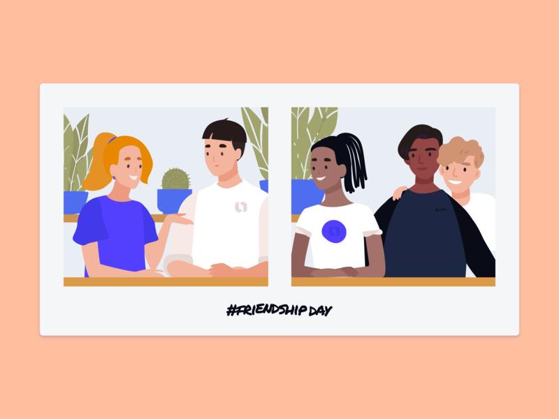 Friendship Day friendshipday illustrations blue cute vector looka love lookadesign looka illustration fun design