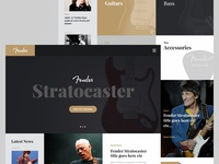 Fender Concept Landing Page