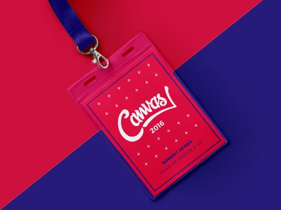 Canvas Conference Lanyard
