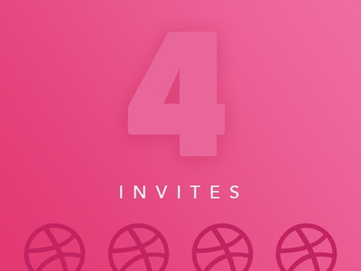 Dribbble Invites x4 invitation dribbble drafting drafts draft player prospect prospects giveaway 4 x4 invites invite