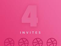 Dribbble Invites x4