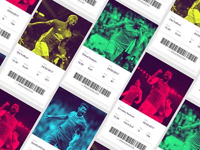 Digital Tickets ux ui design utd city man chelsea arsenal soccer football league premier
