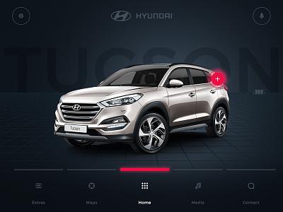 Hyundai In Car Ui app web interface clean design car ui ux tucson hyundai