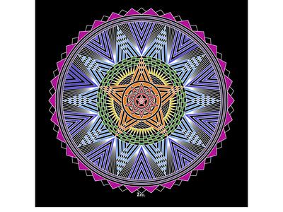 Rainbow Star Mandala
