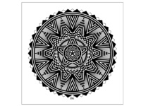 Black And White Star Mandala