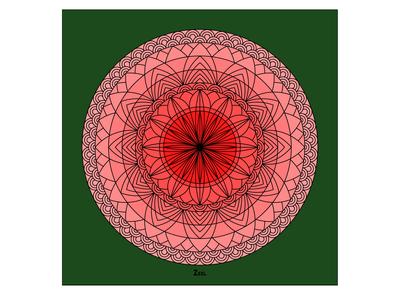 Pink Floral Mandala