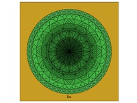 Green Floral Mandala