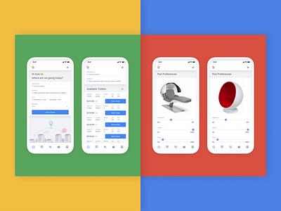 gTransit - Mobile App fun google concept ux ui product design