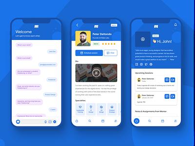 Mentor App product design ux mobile uiux ui