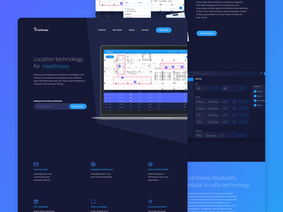 AirFinder - Marketing Homepage product ux ui brand design rtls marketing homepage website