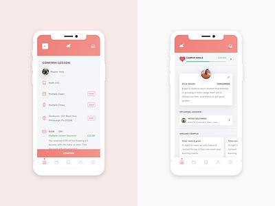 Nimbus Tutoring for Students ios gradient ux ui checklist profile education tutor app mobile app mobile