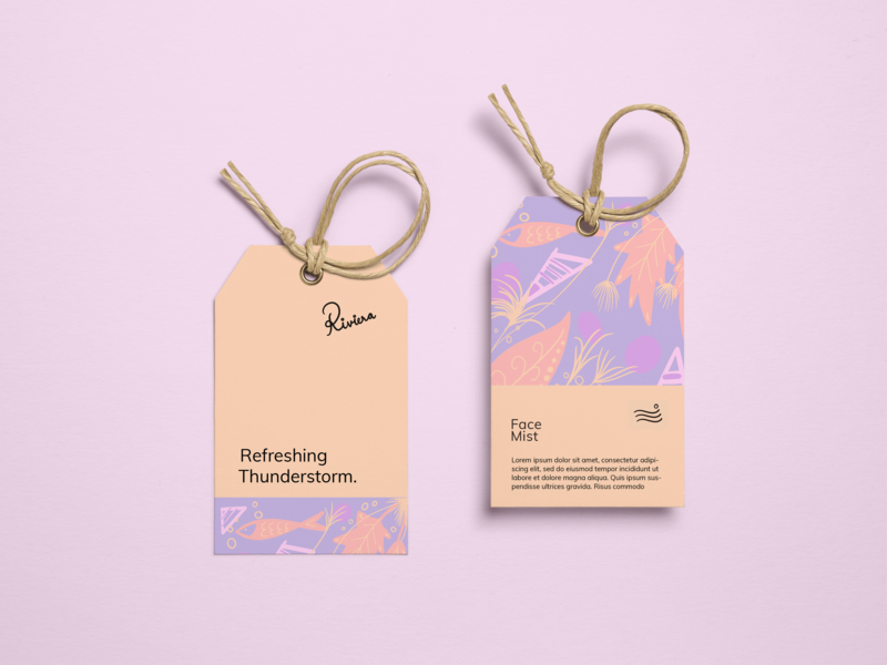 Label Tag  Riviera coloring drawing digital art procreate colour illustration logo adobe photoshop branding typography design