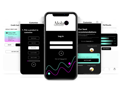 Alola Well-being - e-commerce app concept