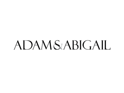 Adams & Abigail White Black