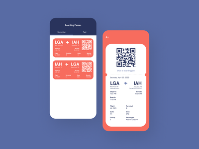 Boarding Pass travel airline airport boarding pass mobile app mobile ui ui design dailyuichallenge daily ui challenge dailyui daily ui 100daysofui 100 days of ui
