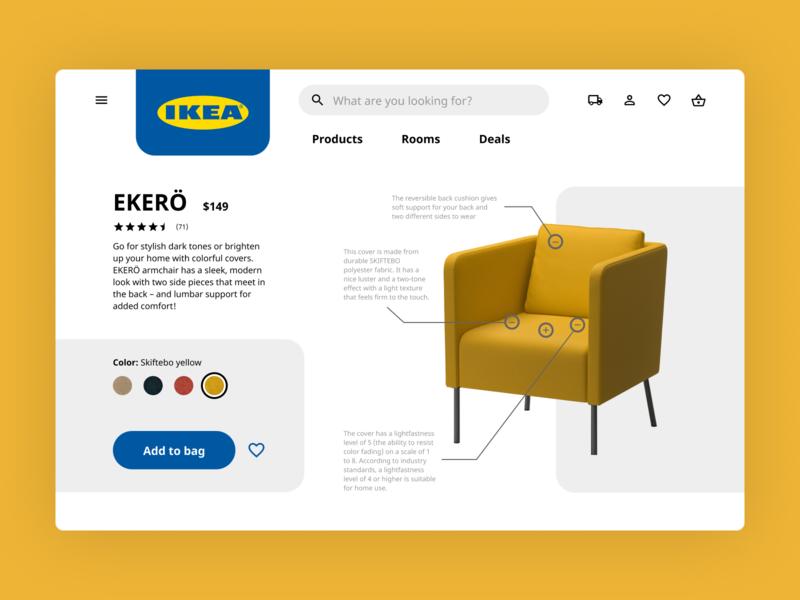 Ikea Product Tour ecommerce product tour ikea website web design ui design daily ui challenge 100daysofui dailyuichallenge daily ui dailyui 100 days of ui