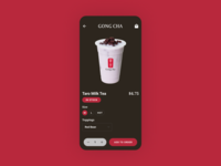 Bubble Tea Order (Gong Cha) in stock bubble tea currently in stock food delivery mobile app mobile ui ui design daily ui challenge 100daysofui dailyuichallenge daily ui dailyui 100 days of ui