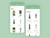 Stoodio Art Supplies shopping categories ecommerce mobile app mobile ui ui design daily ui challenge 100daysofui dailyuichallenge daily ui dailyui 100 days of ui