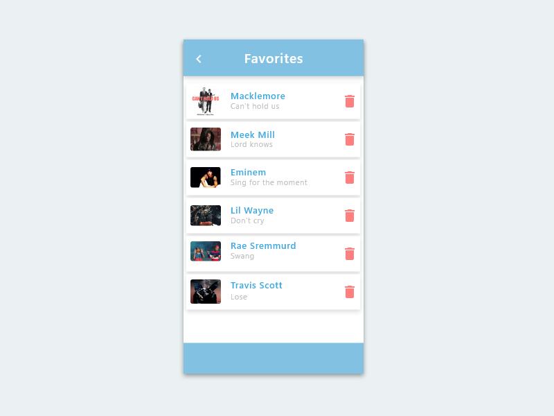 044 - Favorites app ui mobile ui mobile design dribble favorite favorites mobile app design mobile app mobile app front-end front end frontend design ui template ux ui dribbble dailyui