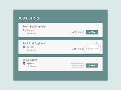 087 - Tooltip daily 100 challenge web design ui ux ui template dribbble tool tip tooltip daily ui dailyui