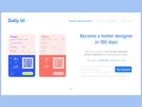 100 - Redesign Daily UI Landing Page