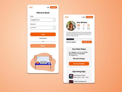 Artist Management App design responsive website illustration ui design ui ux