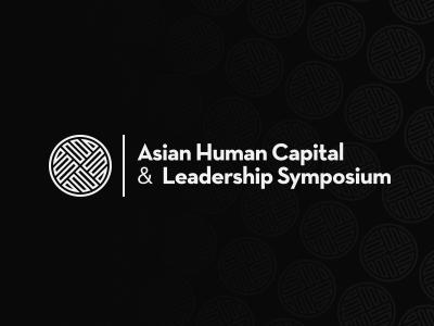 Asian Human Capital shape strokes circle identity pattern branding symbol simple logo clean logo design strong