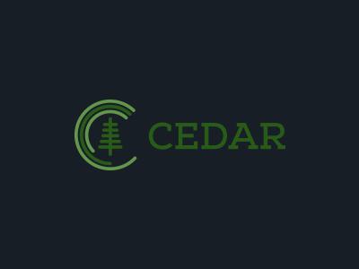 Cedar research logo analytic branding concept research icon tree vector circle green cedar clean