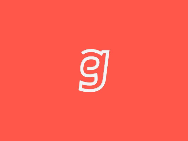eg curves orange modern white lines logo eg monogram simple letter