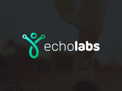 Echo Labs nemanja fent modern echo logo labs technology green helath simple body company design