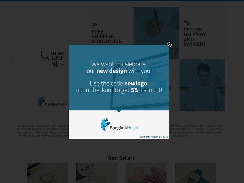 Bangkok Retail redesign logo redesign landing minimal flat ad pop-up clean layout wip webdesign website
