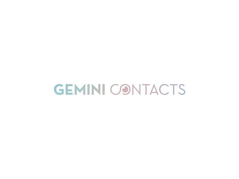 GEMINI sophistication luxury gradient color eye negative space simple lenses contact logo