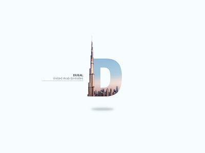 Dubai burj khalifa united arab emirates letter building luxury photography logo tower city uae dubai d