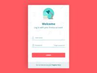 Language School Login Screen