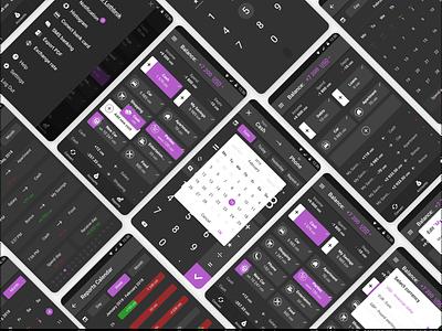 Your Money Tracker money app tracker money android mobile ux uiux ui interface design dark