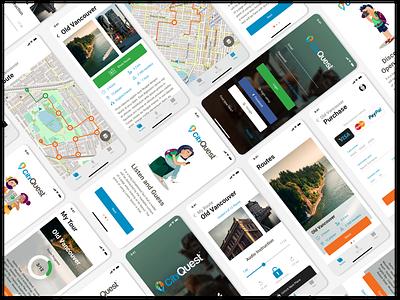 City Quest Application cityquest ios quest travel android mobile ux uiux ui interface design
