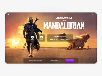 Star Wars: Mandalorian star wars mandalorian starwars android mobile website webpage webdesign web ux uiux ui interface design dark