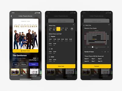 Your Favorite Cinema movie cinema tickets cinematic ux uiux ui mobile ios interface design dark android