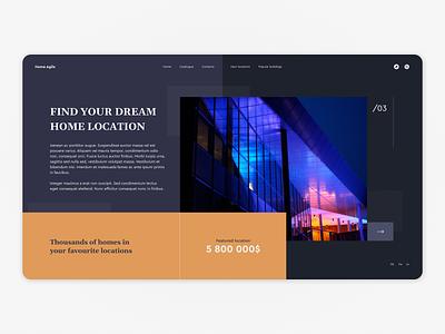 Home Agile Solution building house web design website webpage webdesign web dark ux ui uiux interface design
