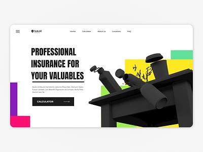 3d Insurance landingpage web design website webpage webdesign web ux ui uiux interface design 3d
