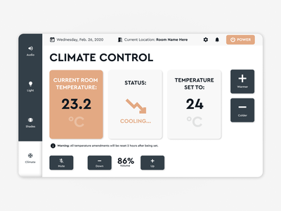 Office smart controller crm website webpage webdesign web ux ui uiux interface design