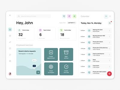 Dashboard for secretary secretary dashboard web design website webpage webdesign web ux uiux ui interface design