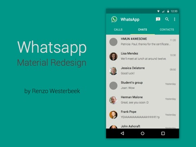 Whatsapp with Material Design