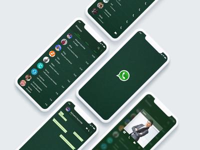 whatsapp night mode design