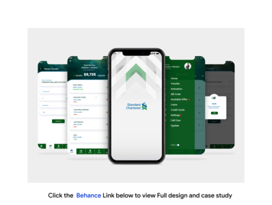 Mobile app redesign for standard chartered bank