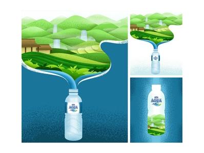 AQUA Nature Illustration